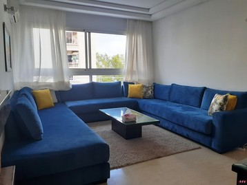 SUPERBE APPARTEMENT MEUBLE, DEUX CHAMBRES, TRIANGLE D'OR-CASABLANCA